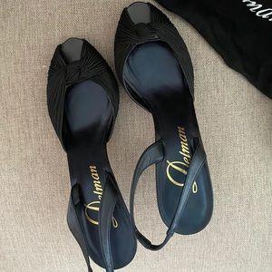 Delman | Black Open Toe Dressy Shoe
